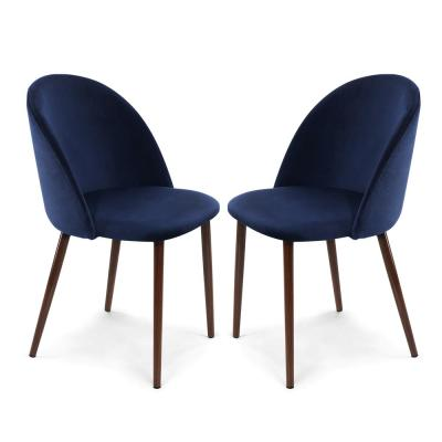Sedona Space Blue Velvet Dining Chair (Set of 2)