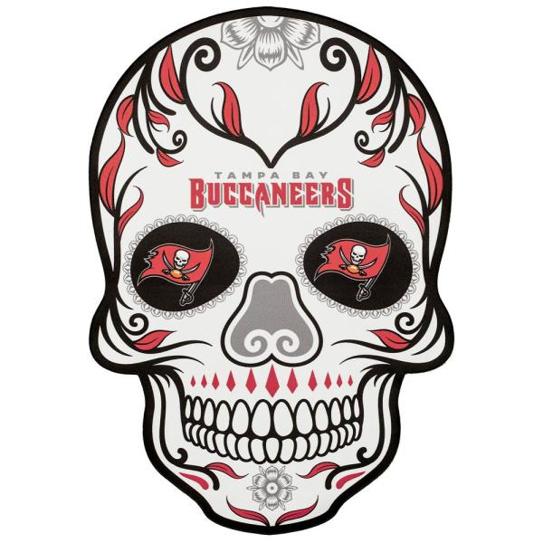 Applied Icon Nfl Tampa Bay Buccaneers Outdoor Skull Graphic Small Nfos3001 The Home Depot