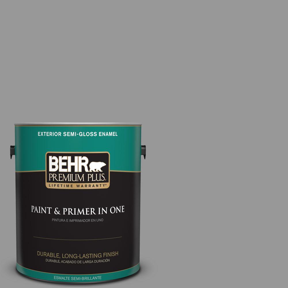 1 gal. #HDC-NT-10A Dolphin Gray Semi-Gloss Enamel Exterior Paint
