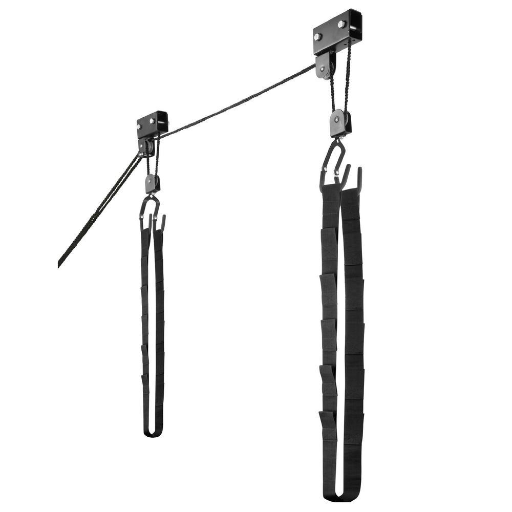 125 lb. Capacity Kayak Canoe Ladder Lift Hoist and Storage Rack