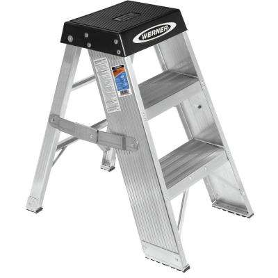 3 ft. Aluminum Step Ladder with 375 lb. Load Capacity Type IAA Duty Rating