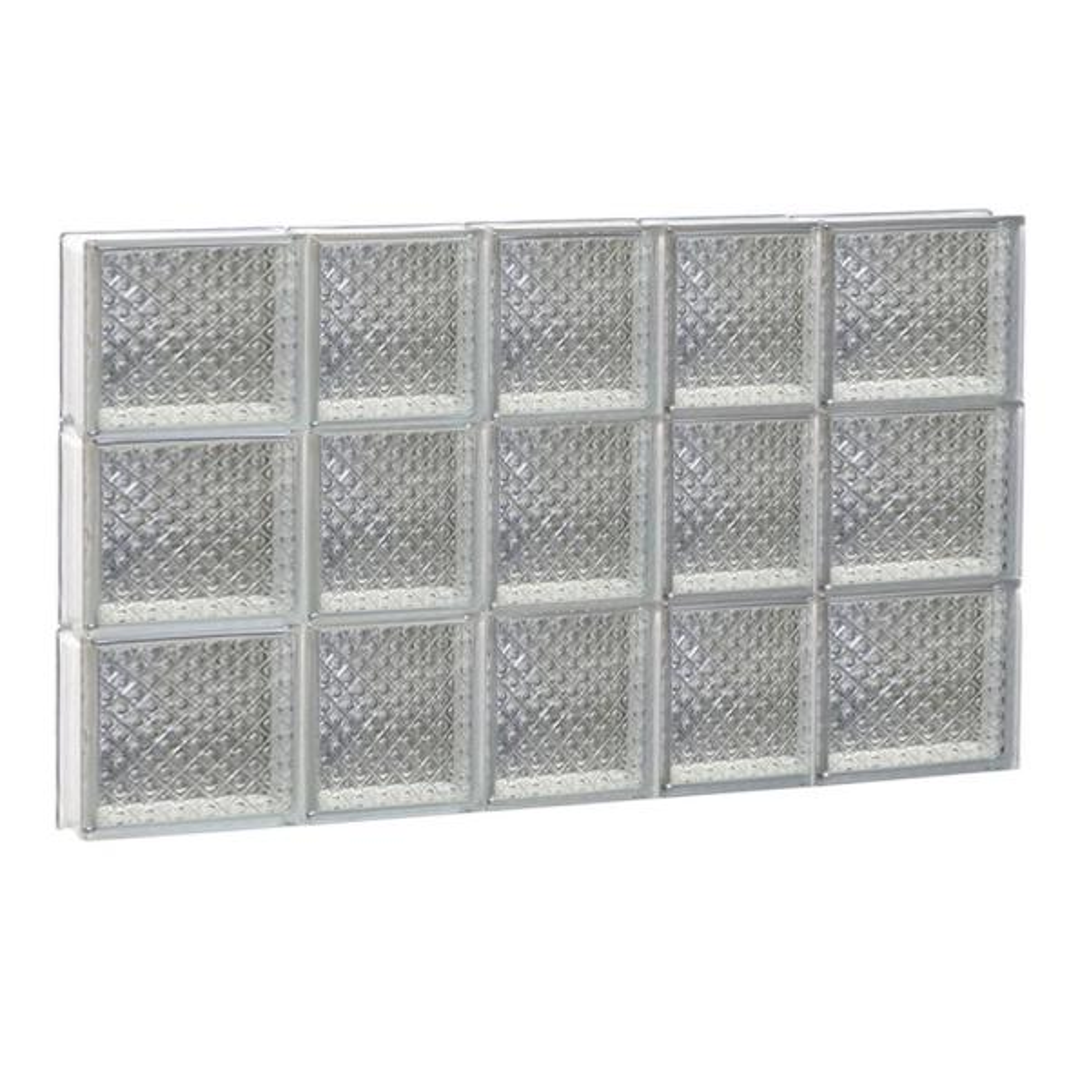32.75 in. x 23.25 in. x 3.125 in. Frameless Non-Vented Diamond Pattern Glass Block Window