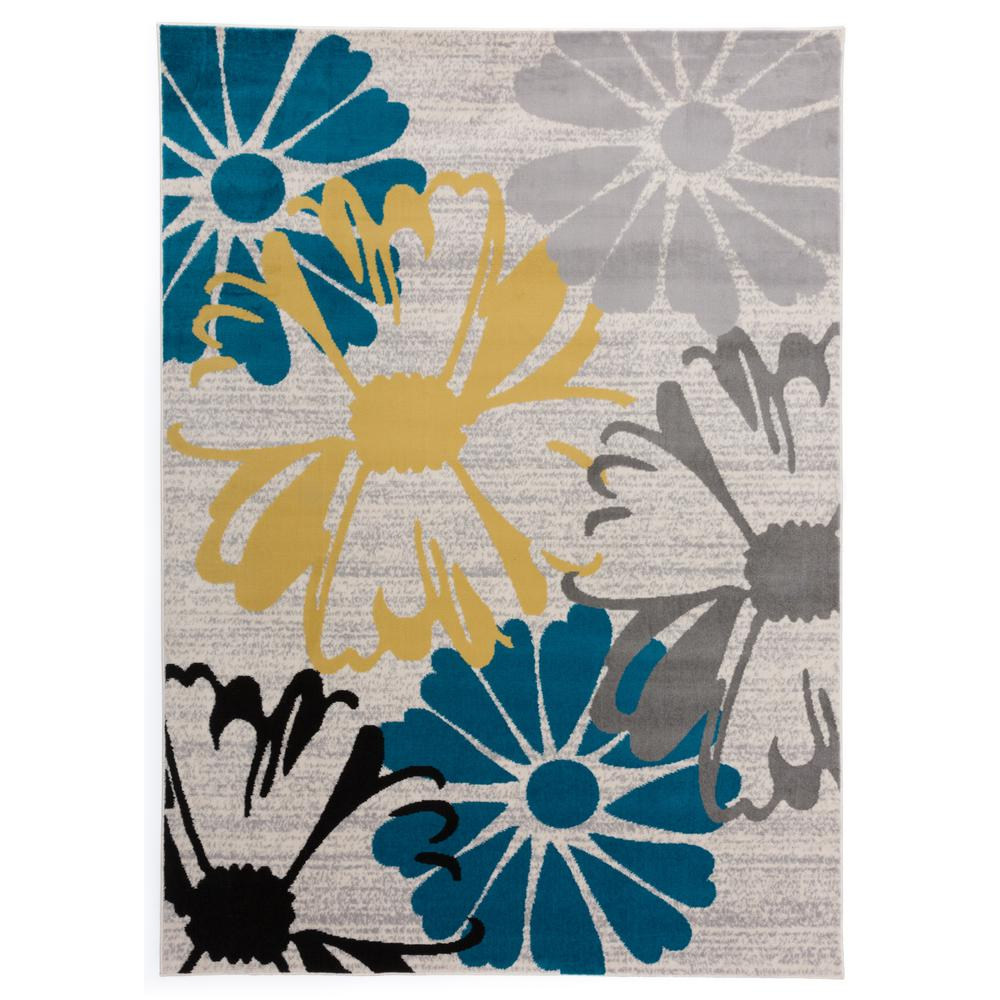 World Rug Gallery Contemporary Modern Large Flowers Area