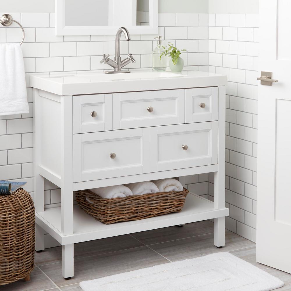 Dorset Cross Single-Hole 2-Handle Bathroom Faucet in Brushed Nickel