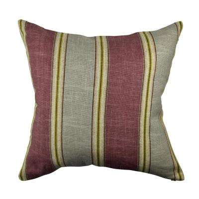 Classic Maroon Stripes Jacquard Throw Pillow