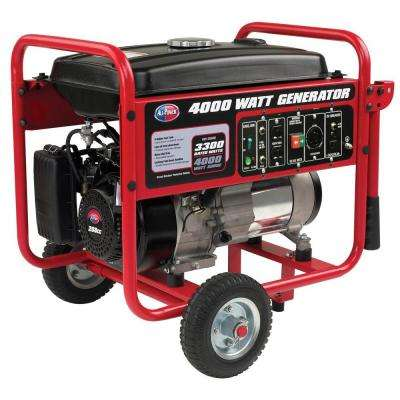 3300-Watt Gasoline Powered Portable Generator with Mobility Cart