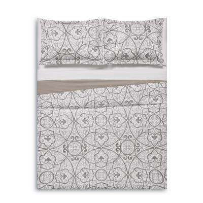 Marcello Grey Full/Queen Duvet Set