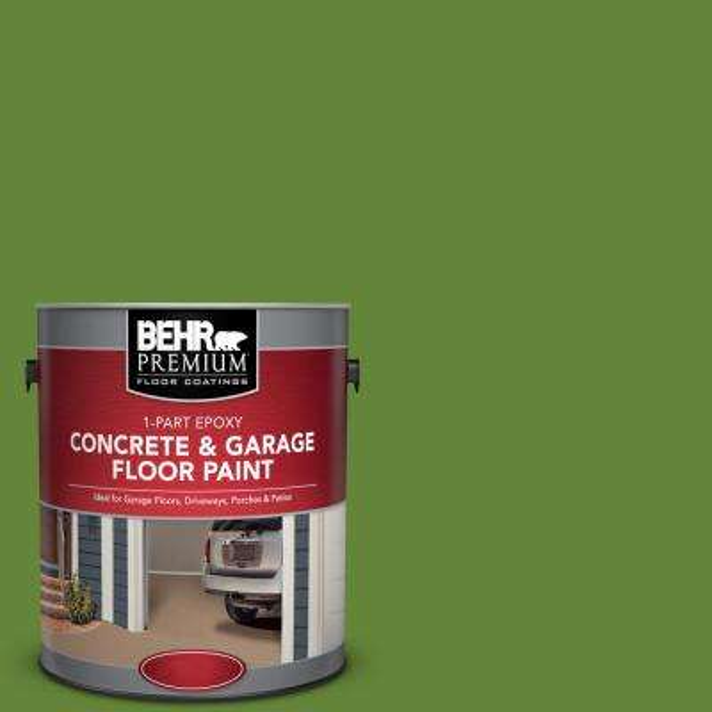 1 gal. #P370-7 Sun Valley 1-Part Epoxy Satin Interior/Exterior Concrete and Garage Floor Paint