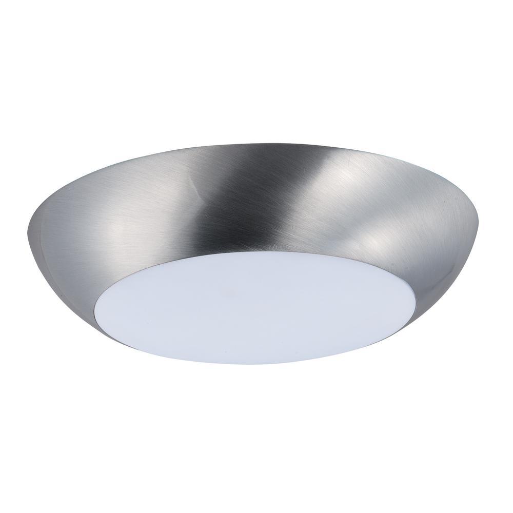 Diverse LED 1-Light Satin Nickel Flushmount