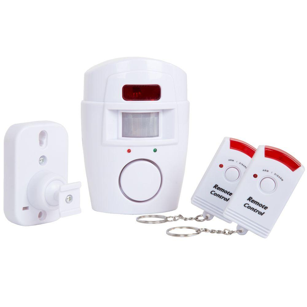 Everyday Home Wireless Motion Sensor Alarm With 2 Remotes