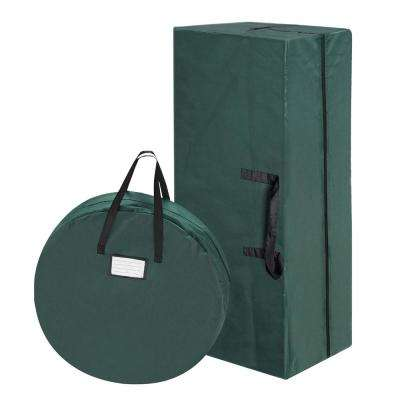 30 in. Wreath and 9 ft. Canvas Christmas Tree Storage Bag Combo