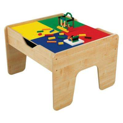 2-in-1 Activity Table with Board in Natural