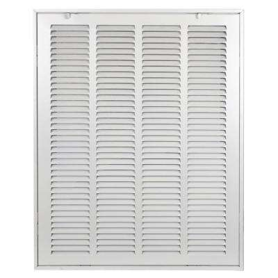 20 in. x 16 in. Steel Return Air 1 in. Filter Grille, White Grille