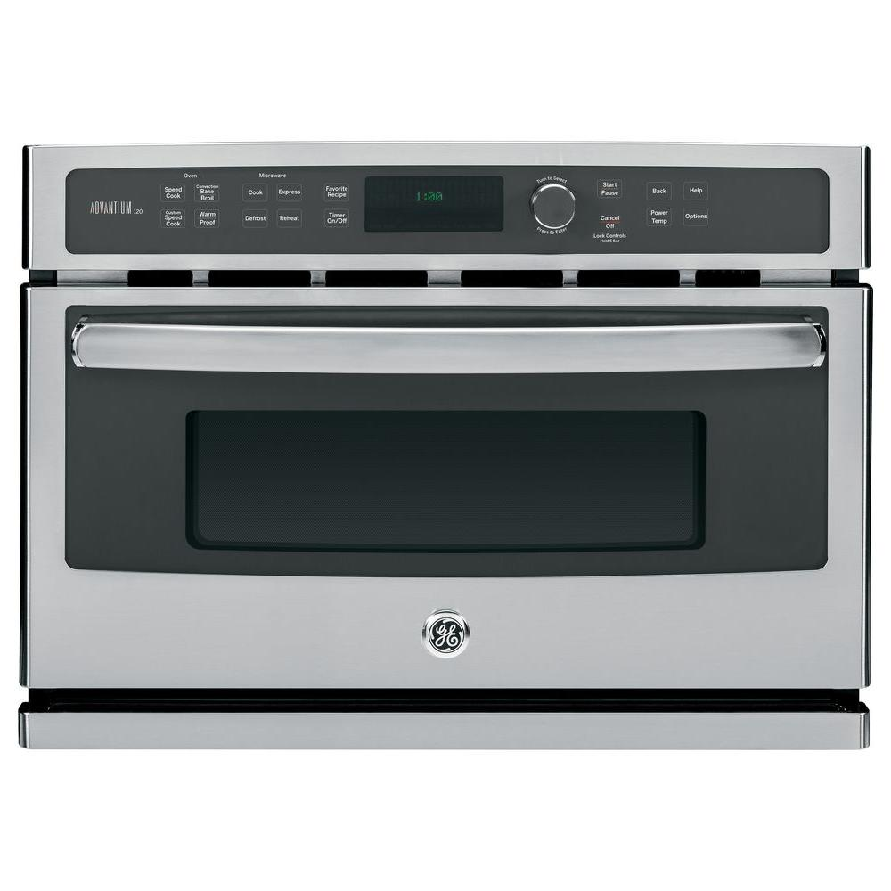 GE Profile Advantium 27 in. Single Electric Wall Oven with Speed Cook and Convection in Stainless Steel