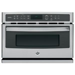 Home Depot Wall Ovens ge 27 in. single electric wall oven self-cleaning with steam in