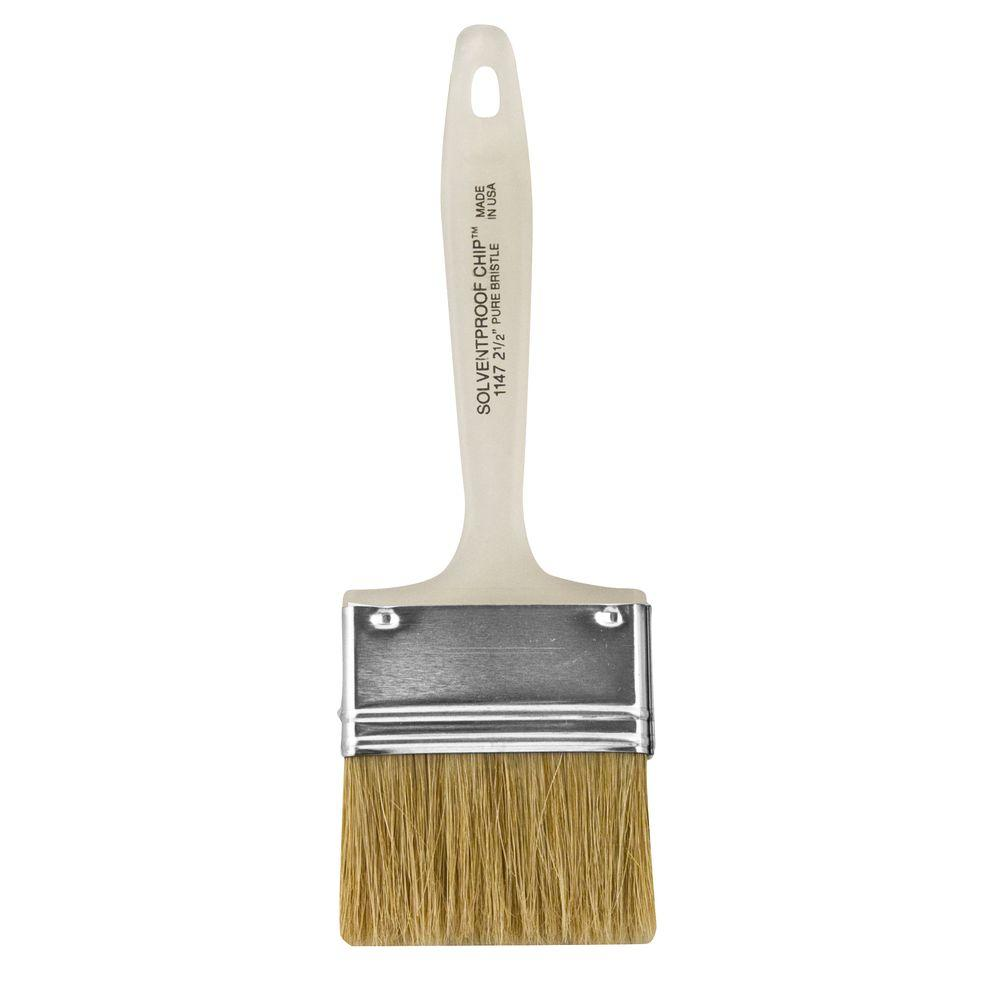 2-1/2 in. Flat Solvent-Proof Chip Brush (24-Pack)
