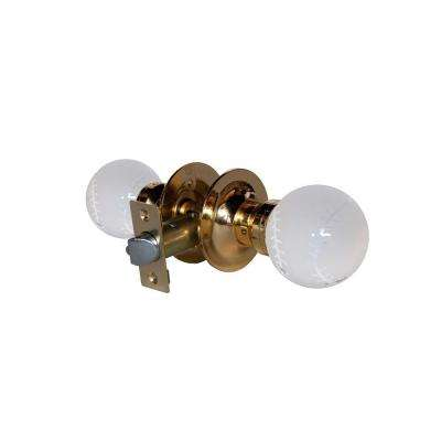Baseball Crystal Brass Passive Door Knob with LED Mixing Lighting Touch Activated