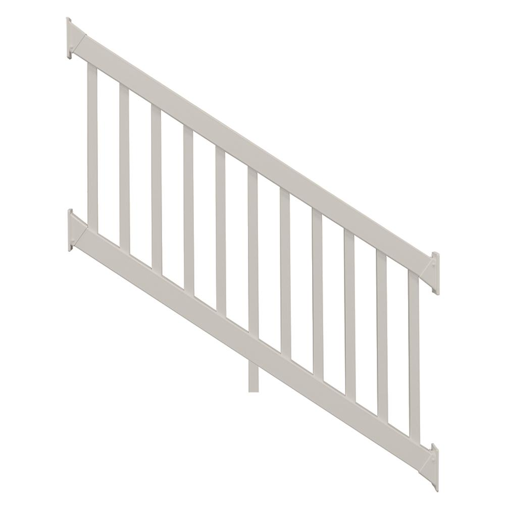 Naples 36 in. x 96 in. Tan Vinyl Stair Railing Kit