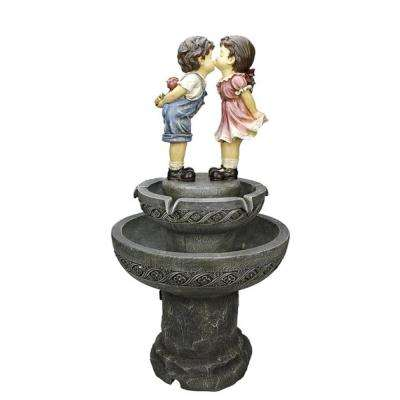 36 in. Kissing Boy and Girl Water Fountain