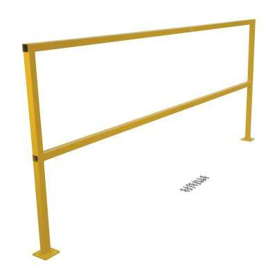 8 ft. Square Steel Safety Handrail with Hardware Kit