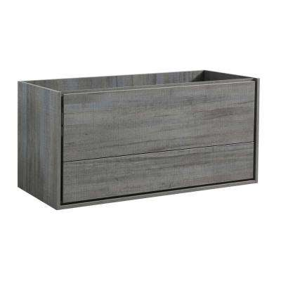 Catania 48 in. Modern Wall Hung Double Bath Vanity Cabinet Only in Ocean Gray