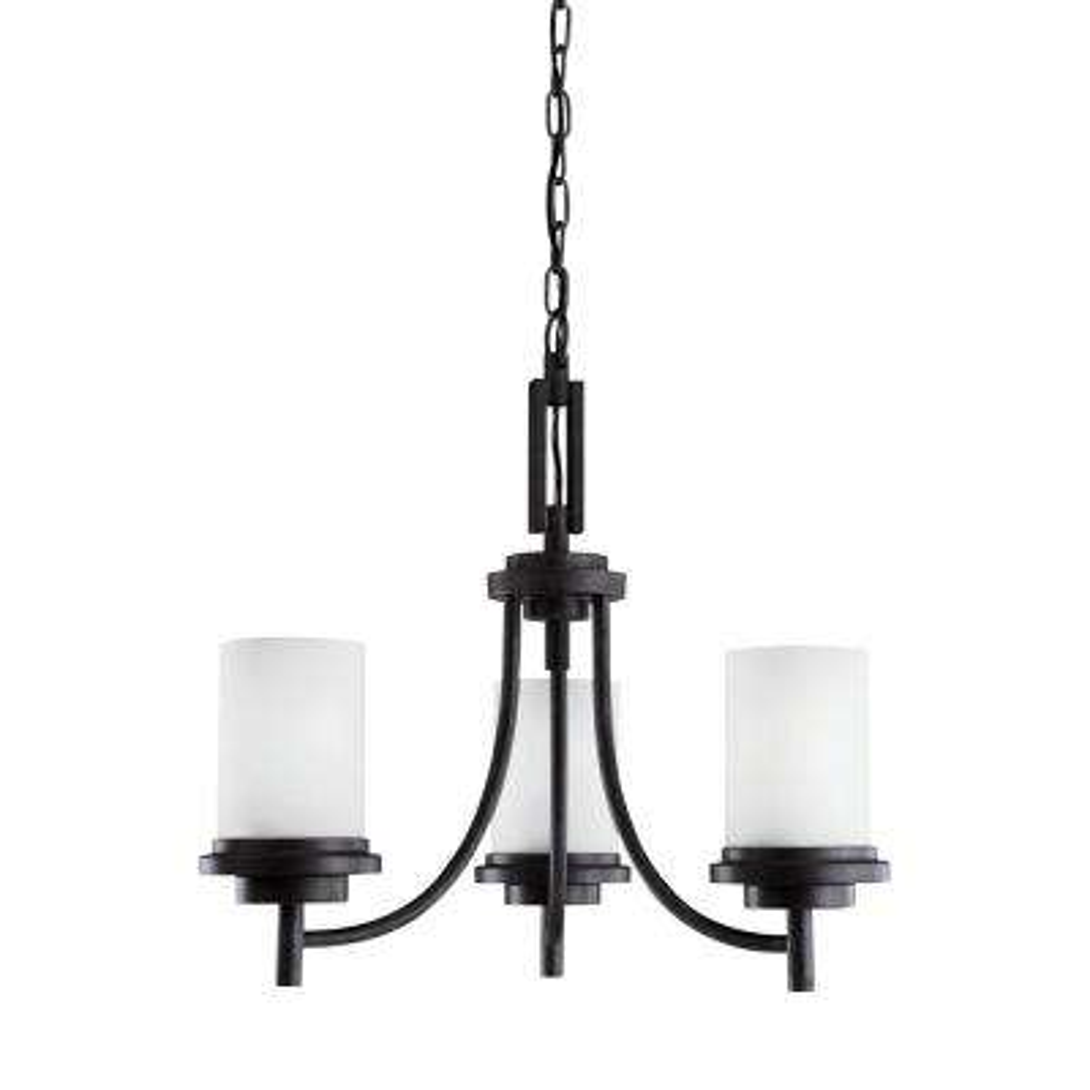 Winnetka 3-Light Blacksmith Chandelier with LED Bulbs
