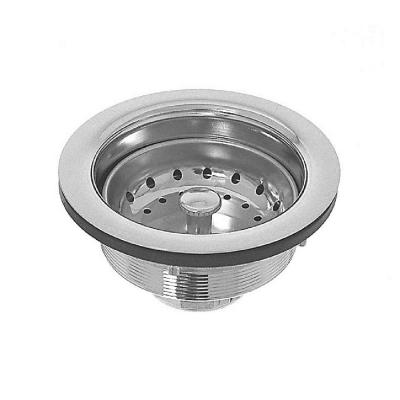 4 in. Threaded Kitchen Sink Strainer Basket with Brass Body and Stainless Steel Basket