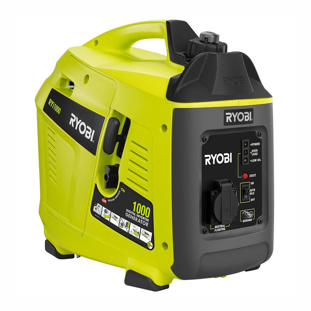 RYOBI 1,000 Starting Watt Gasoline Powered Portable Generator with Digital  Inverter
