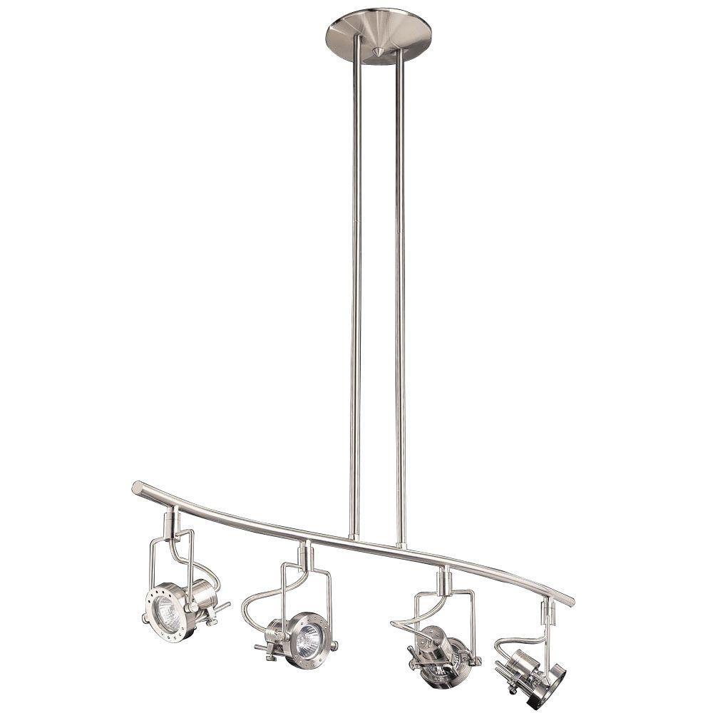 Cassiopeia 4-Light Satin Nickel Track Lighting Kit