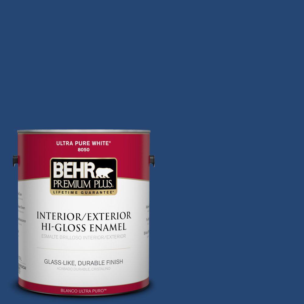 S H 580 Navy Blue Hi Gloss Enamel Interior Exterior Paint