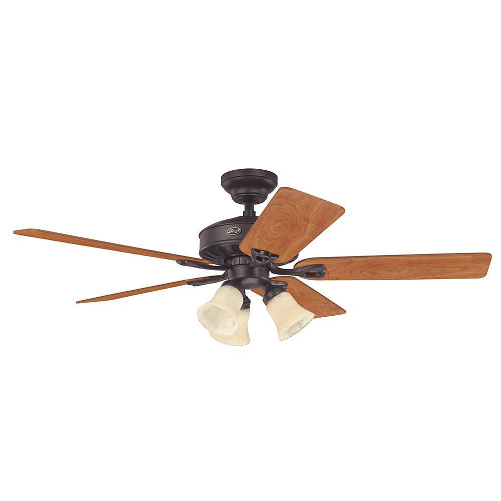 Hunter Kingston 52 in. Indoor New Bronze Ceiling Fan-27485 ...