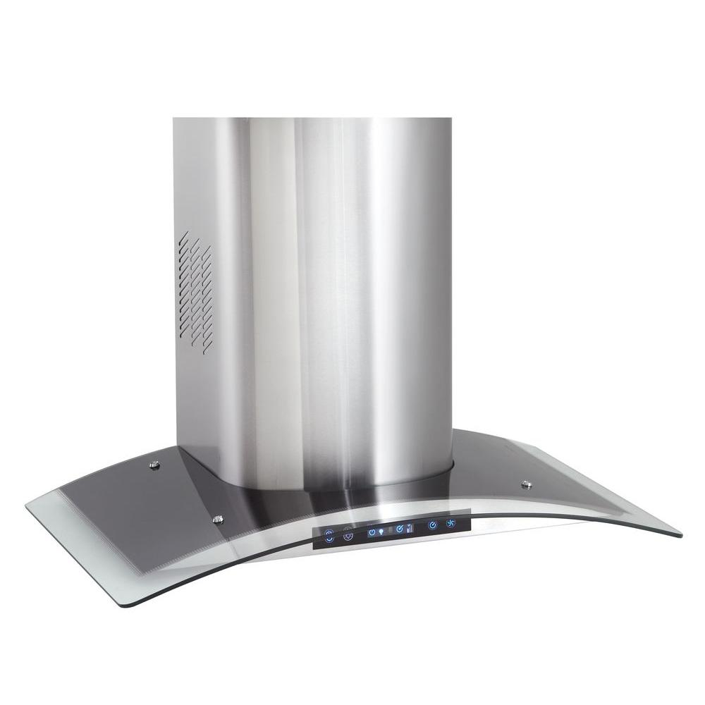 Danby Silhouette Select 30 in. Range Hood in Stainless Steel with Curved Glass Trim-DISCONTINUED