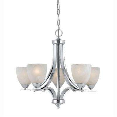 Value Series 5-Light Chrome Chandelier