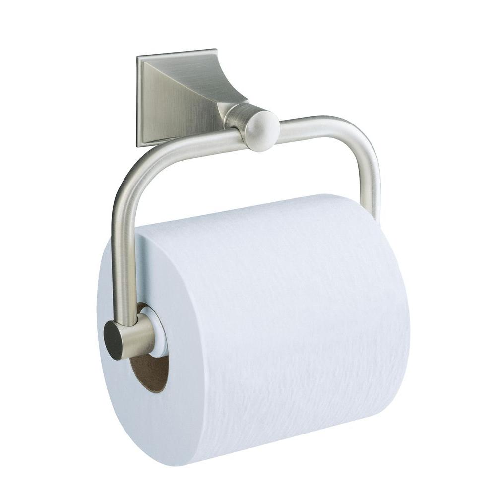 KOHLER Memoirs Wall-Mount Single Post Toilet Paper Holder with Stately Design in Vibrant Brushed Nickel