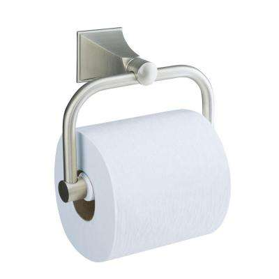 Memoirs Wall-Mount Single Post Toilet Paper Holder with Stately Design in Vibrant Brushed Nickel