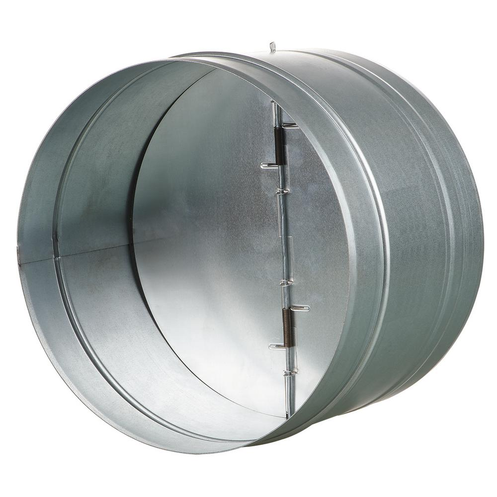 10 in. Galvanized Back-Draft Damper with Rubber Seal