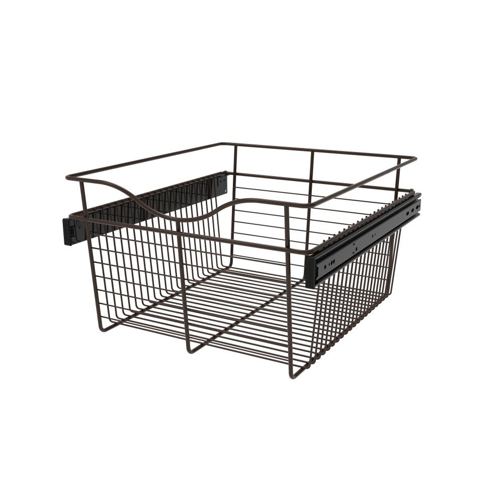 Rev-A-Shelf 18 in. x 11 in. Oil Rubbed Bronze Pull-Out Basket