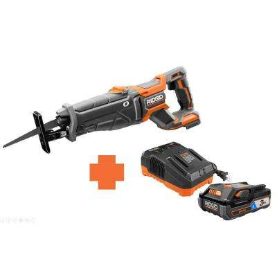 18-Volt OCTANE Lithium-Ion Cordless Brushless Reciprocating Saw with Bonus 18-Volt 3.0 Ah Lithium-Ion Battery, Charger