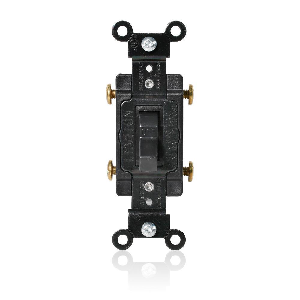 40 Amp 600 Volt Industrial Grade Toggle 2-Pole AC Welder Starting Switch - Black
