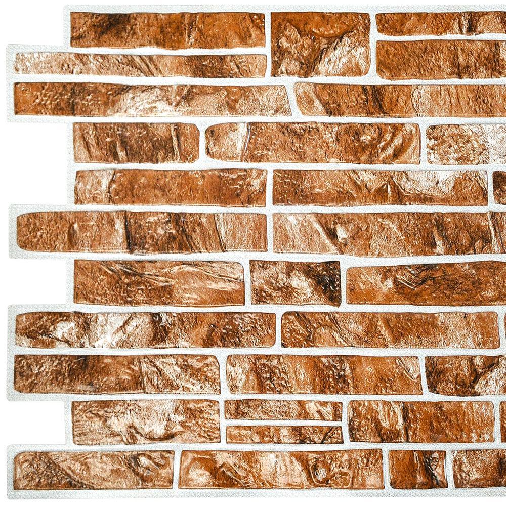 3D Falkirk Retro 10/1000 in. x 40 in. x 19 in. Light Brown Faux Slate PVC Wall Panel