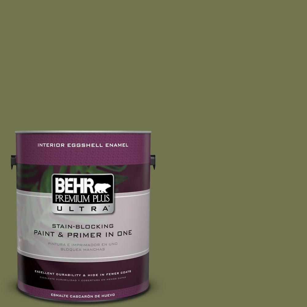 BEHR Premium Plus Ultra 1-gal. #S360-6 Secret Meadow Eggshell Enamel Interior Paint