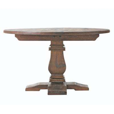 Aldridge Antique Walnut Round Dining Table