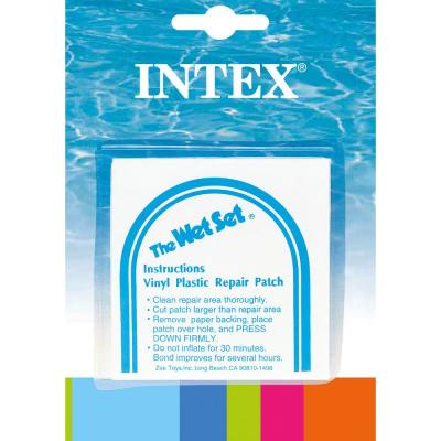 Intex Wet Set Adhesive Vinyl Plastic Swimming Pool Tube Repair Patch Kit 24 Pack 4 X 59631ep The Home Depot