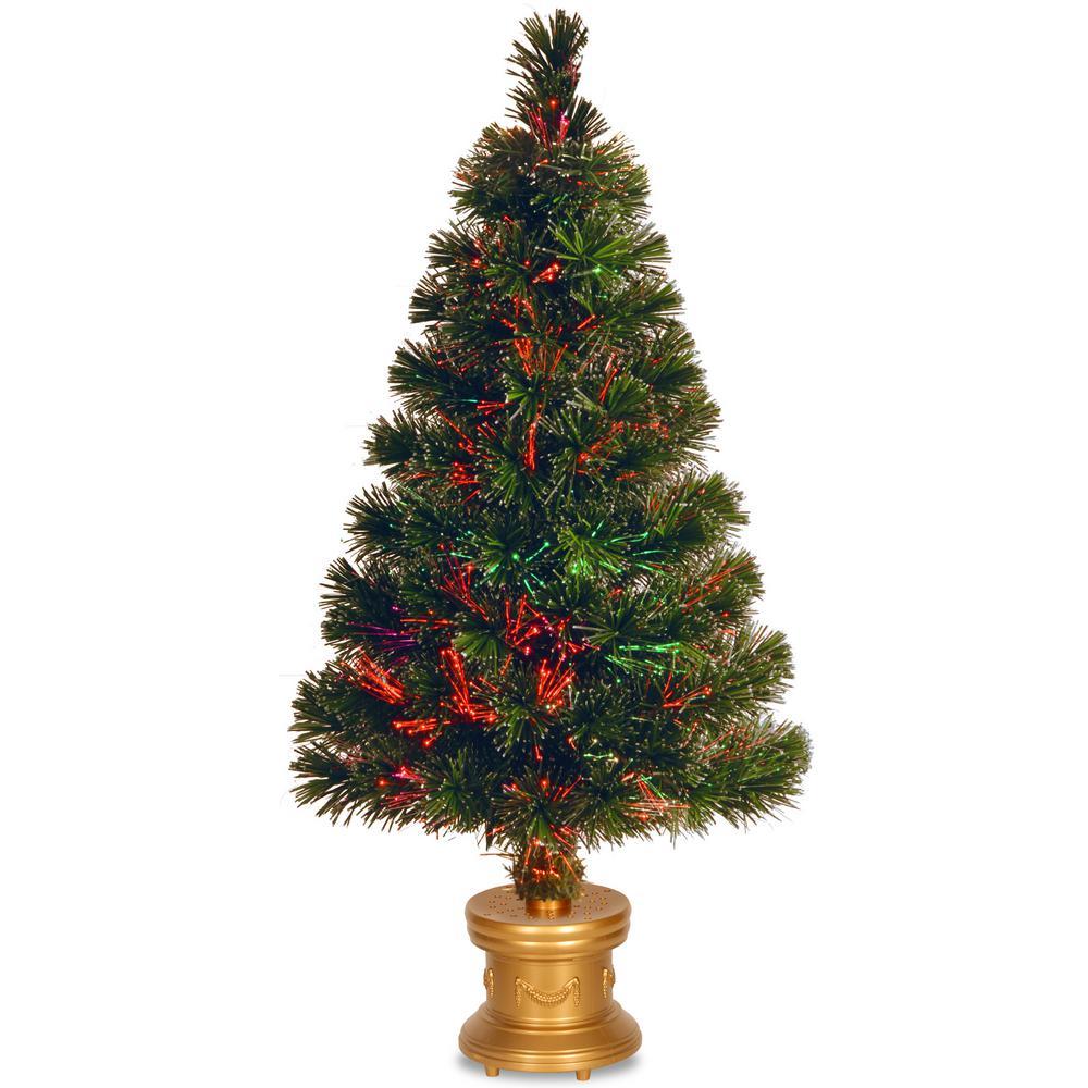 2.6 ft. Fiber Optic Fireworks Evergreen Artificial Christmas Tree