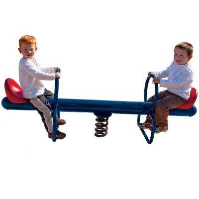 UPlay Today Commercial 2-Rider Spring See Saw with Blue & Red Seats