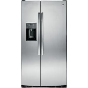 Click here to buy GE Adora 36 inch W 25.4 cu. ft. Side by Side Refrigerator in Stainless Steel by GE.