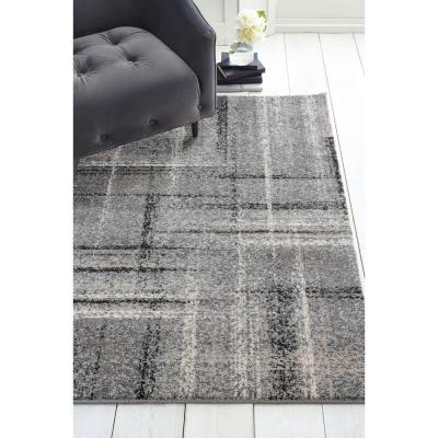 Serenity Mirage Grey 5 ft. 3 in. x 7 ft. 2 in. Area Rug