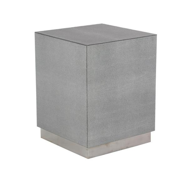 Astounding Litton Lane Gray Cube Shaped Accent Table With Beveled Base Download Free Architecture Designs Remcamadebymaigaardcom