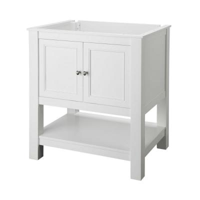 Gazette 30 in. W Bath Vanity Cabinet Only in White