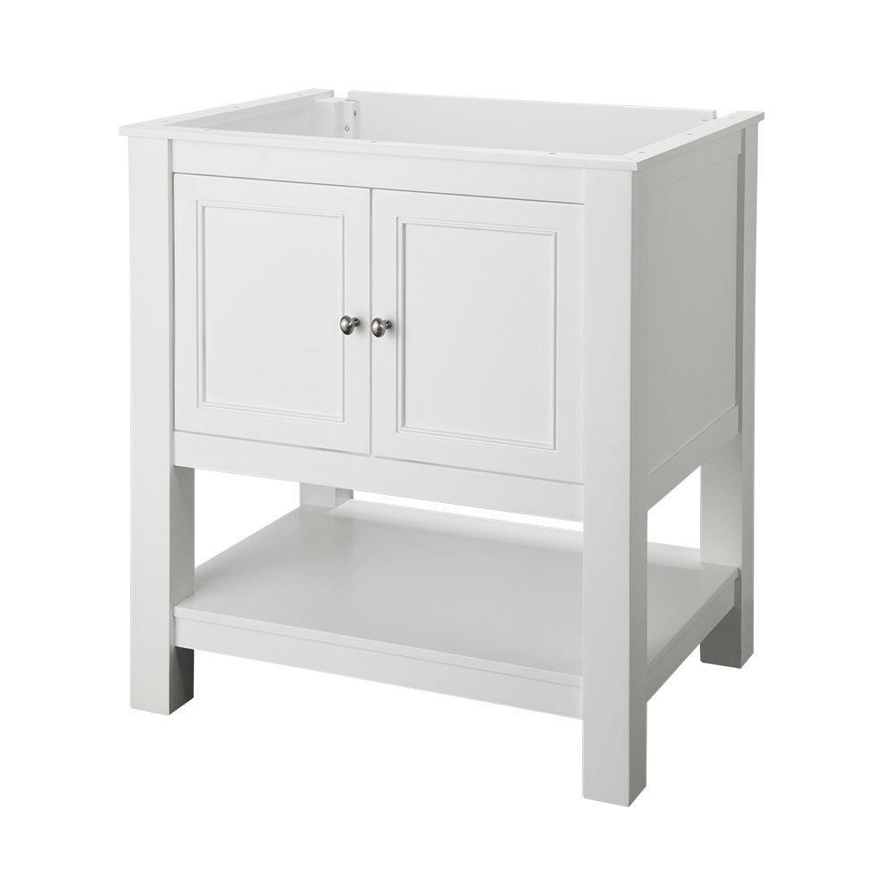 Gazette 30 in. W Bath Vanity Cabinet Only in White
